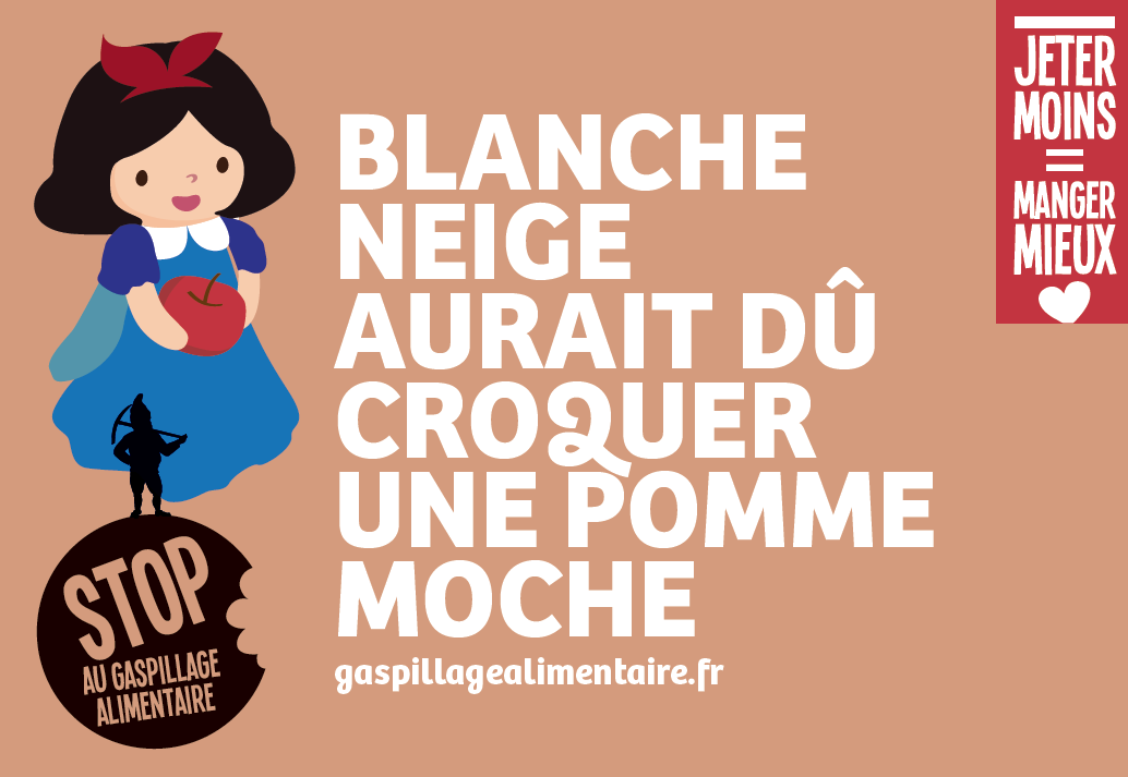 blanche neige gaspillage alimentaire