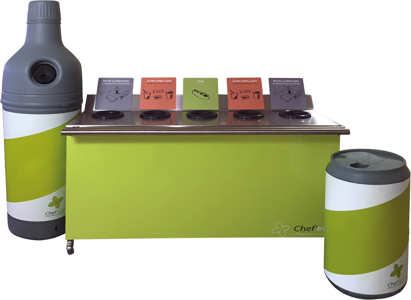 recup'bouteille recup'canette Chef'eco